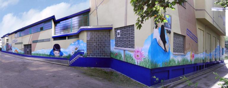 Graffitikuenstler, Graffitiauftrag, Artmos4, Mainova, Menschen, Pflanzen, Fotorealistisch