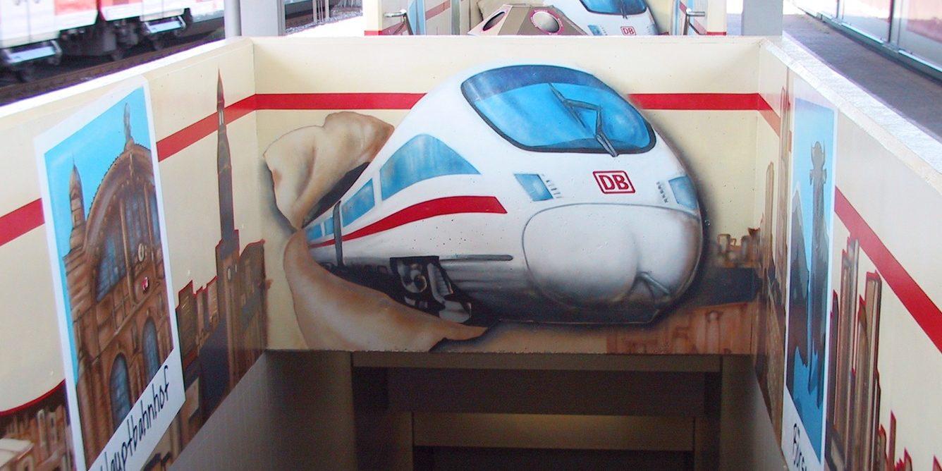 Graffitiauftrag für die Deutsche Bahn