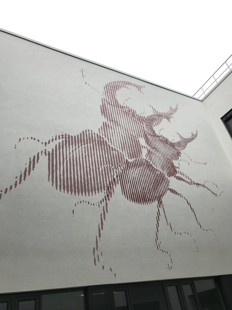 Graffitikuenstler, Graffitiauftrag, Artmos4, AlbrechtDuererSchule, Kaefer, Rasterbild