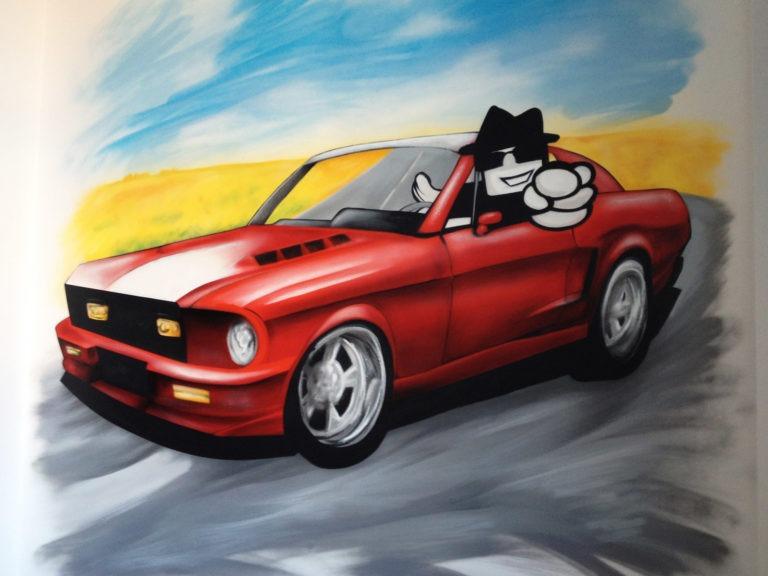 Graffitikuenstler, Graffitiauftrag, Artmos4, Vodafone, Comic