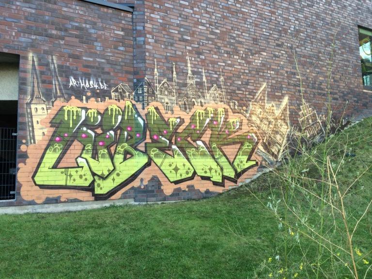 Graffitikuenstler, Graffitiauftrag, Artmos4,