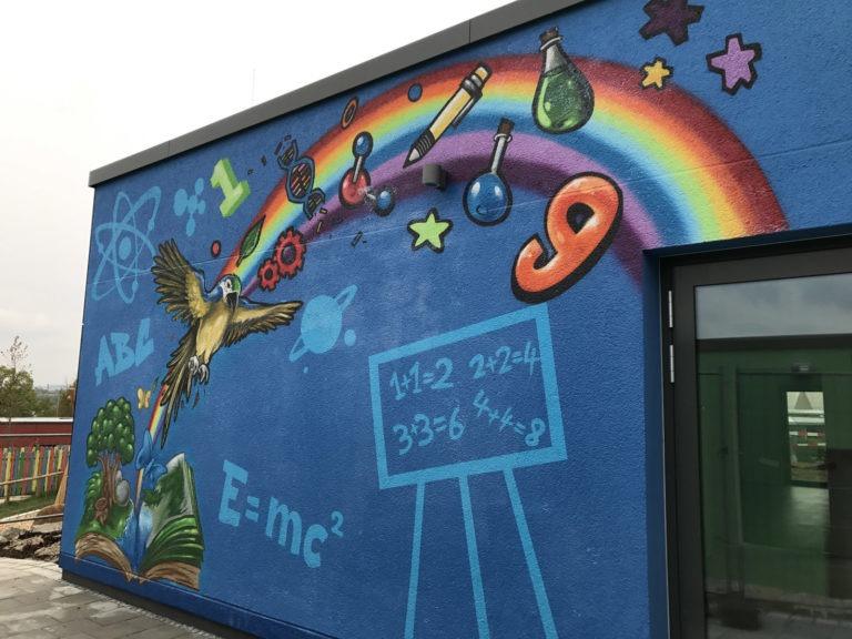 Graffitikuenstler, Graffitiauftrag, Artmos4, Bosch, Schule, Comic, Tiere, lernen