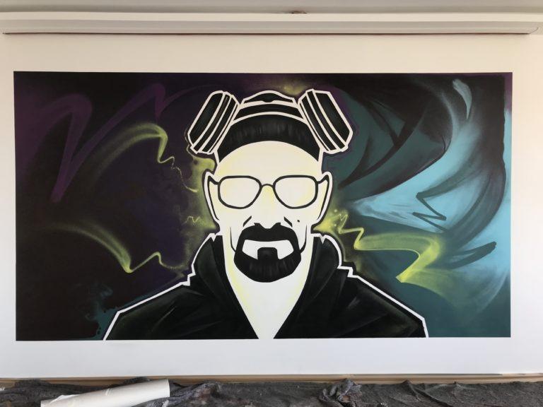 Graffitikuenstler, Graffitiauftrag, Artmos4, Heisenberg, BreakingBad, illustrativ, Mensch