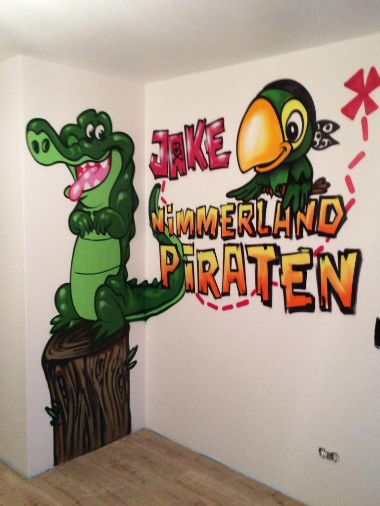 Graffitikuenstler, Graffitiauftrag, Artmos4, CaptainJake, Tiere, Schrift, Comic