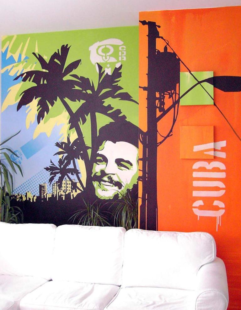 Graffitikuenstler, Graffitiauftrag, Artmos4, Cuba, Grafisch, Person