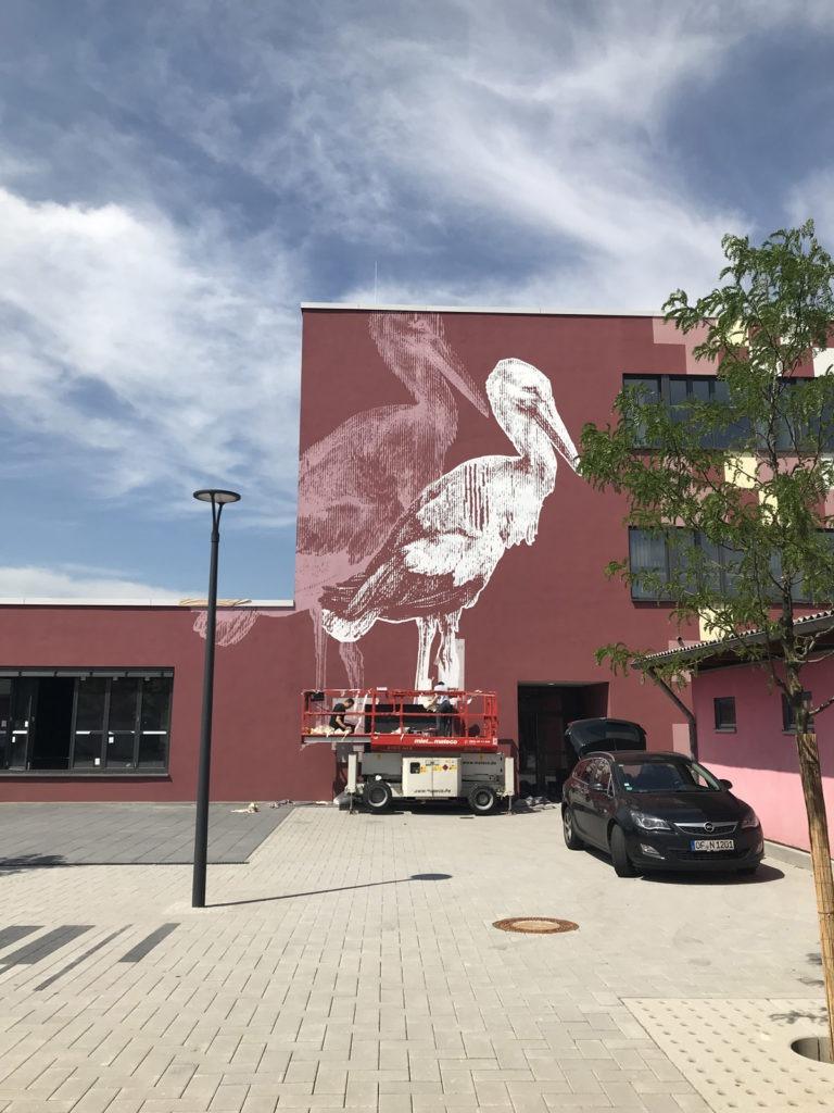 Graffitikuenstler, Graffitiauftrag, Artmos4, AlbrechtDuererSchule, Rasterbild, Tier, Grafisch