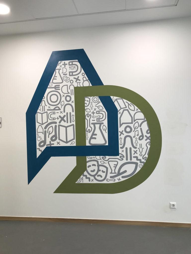Graffitikuenstler, Graffitiauftrag, Artmos4, AlbrechtDuererSchule, Logo, Symbole, Grafisch, illustrativ