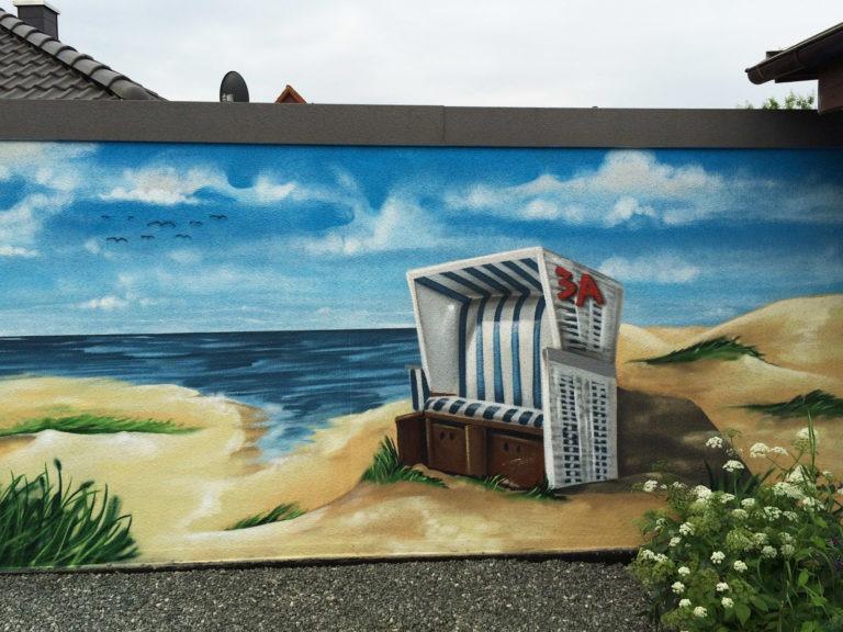 Graffitikuenstler, Graffitiauftrag, Artmos4, Landschaft, Meer, Fotorealistisch