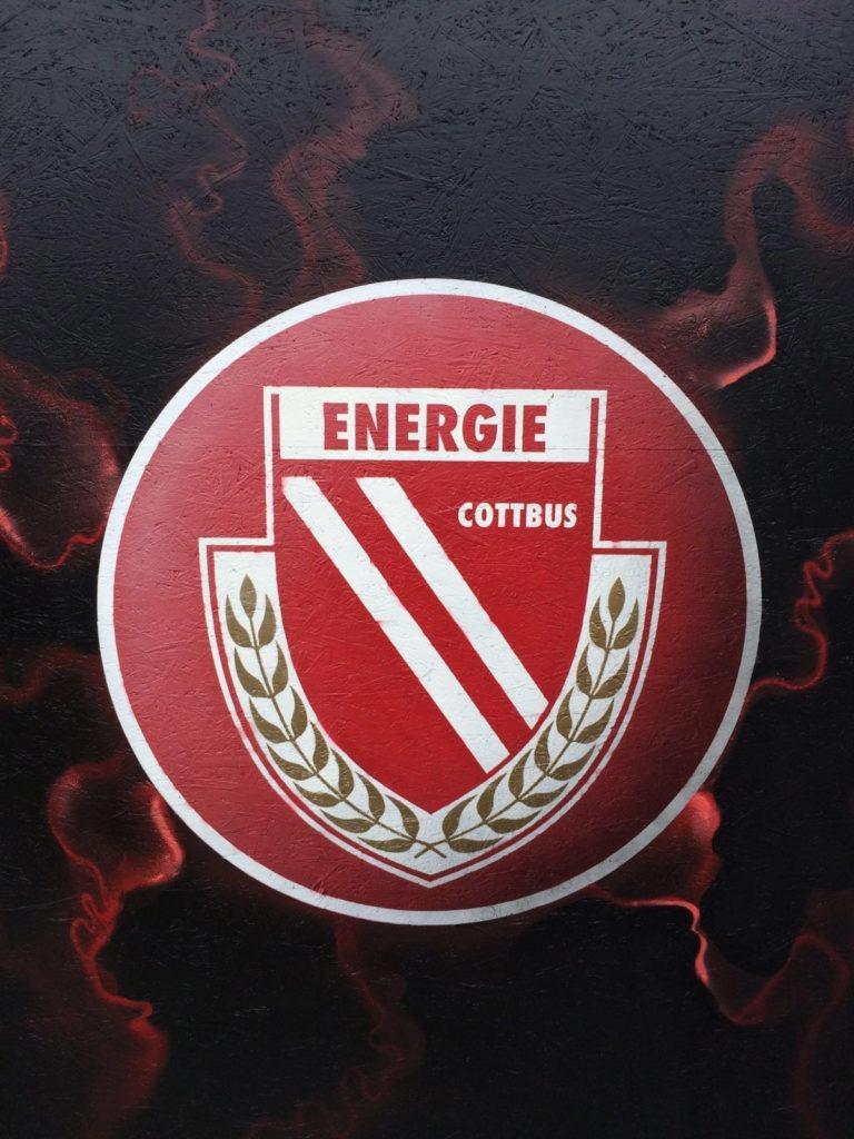 Graffitikuenstler, Graffitiauftrag, Artmos4, Energiecottbus, Logo, Grafisch