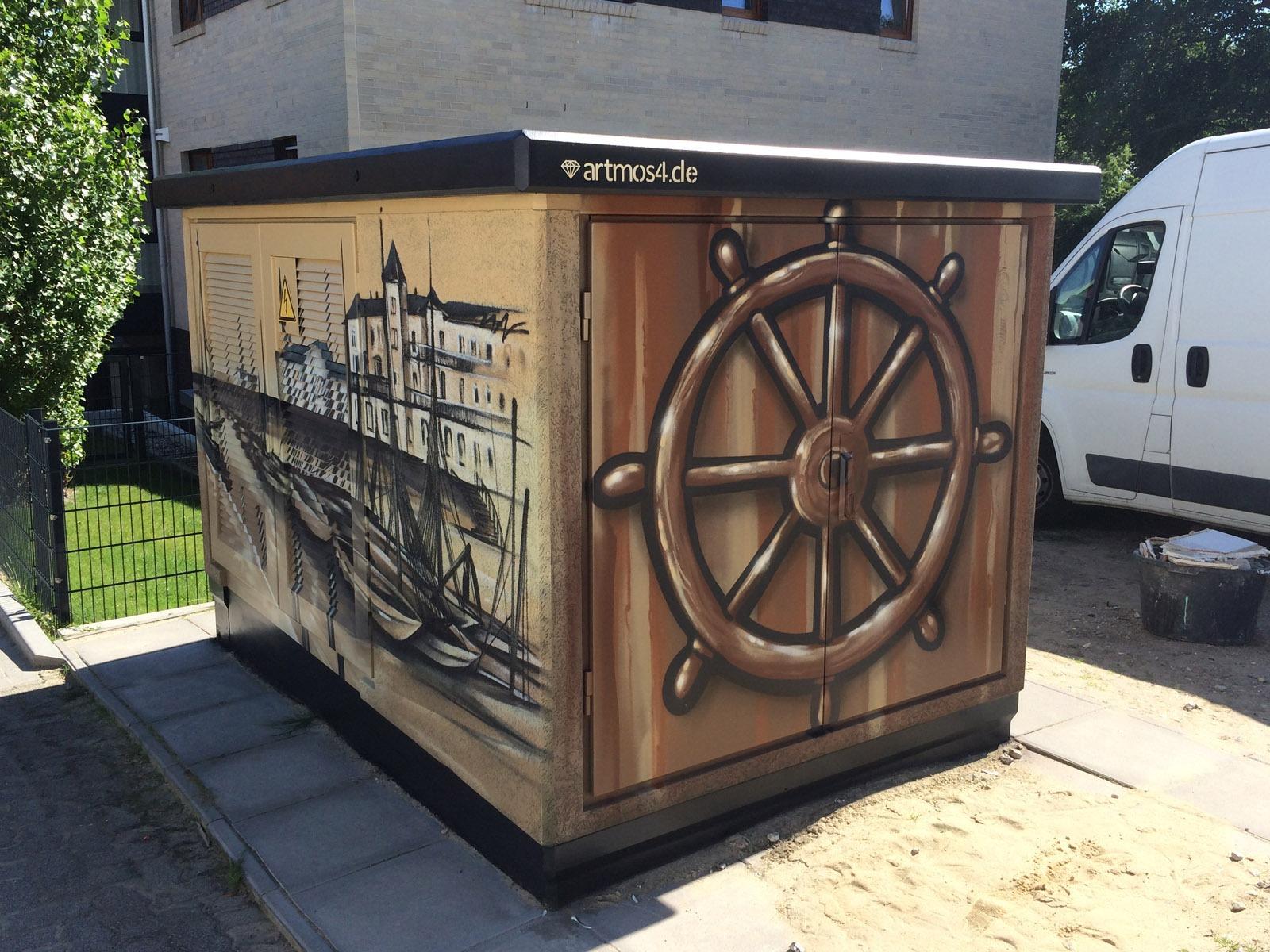 graffitiauftrag-graffitikuenstler-artmos4-hansewerk-2016-landschaft-holz-braun-beige-fotorealistisch-aussen-energieversorger