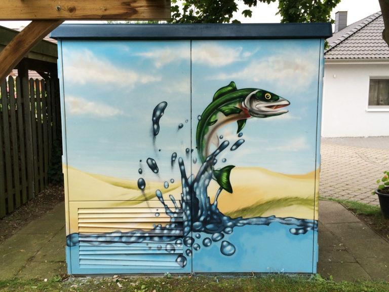 Graffitikuenstler, Graffitiauftrag, Artmos4, Hansewerke, Fotorealistisch
