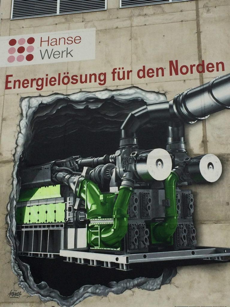 Graffitikuenstler, Graffitiauftrag, Artmos4, Hansewerke, Maschine, Fotorealistisch