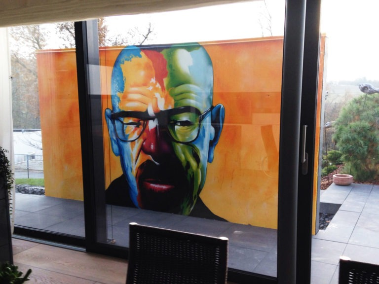 Graffitikuenstler, Graffitiauftrag, Artmos4,,Heisenberg,Breaking Bad