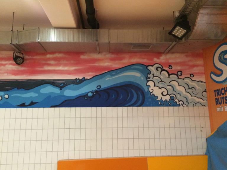 Graffitikuenstler, Graffitiauftrag, Artmos4, Miramar, Comic, Wasser