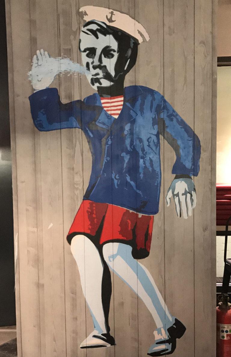 Graffitikuenstler, Graffitiauftrag, Artmos4, Nordsee, illustrativ, Person