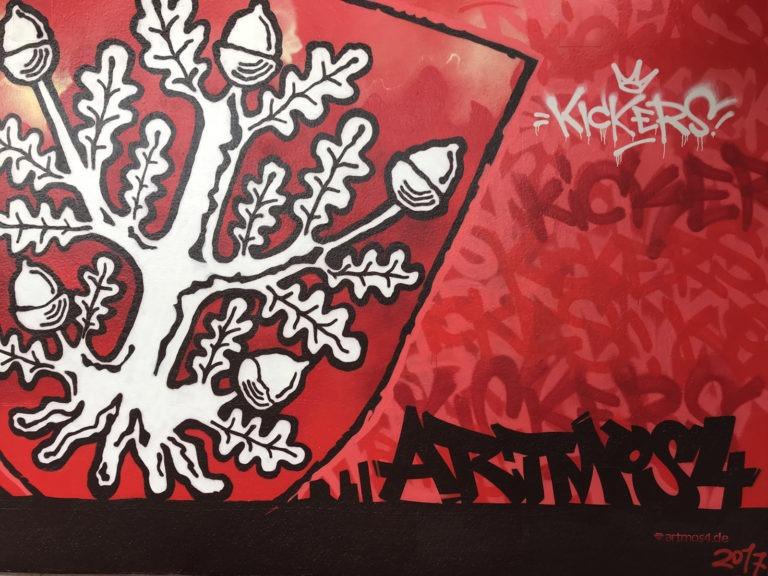 Graffitikuenstler, Graffitiauftrag, Artmos4, OFC, Logo, Tags