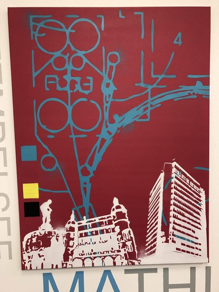 Graffitikuenstler, Graffitiauftrag, Artmos4, OffenbachPost, Grafisch, Logo, Schrift