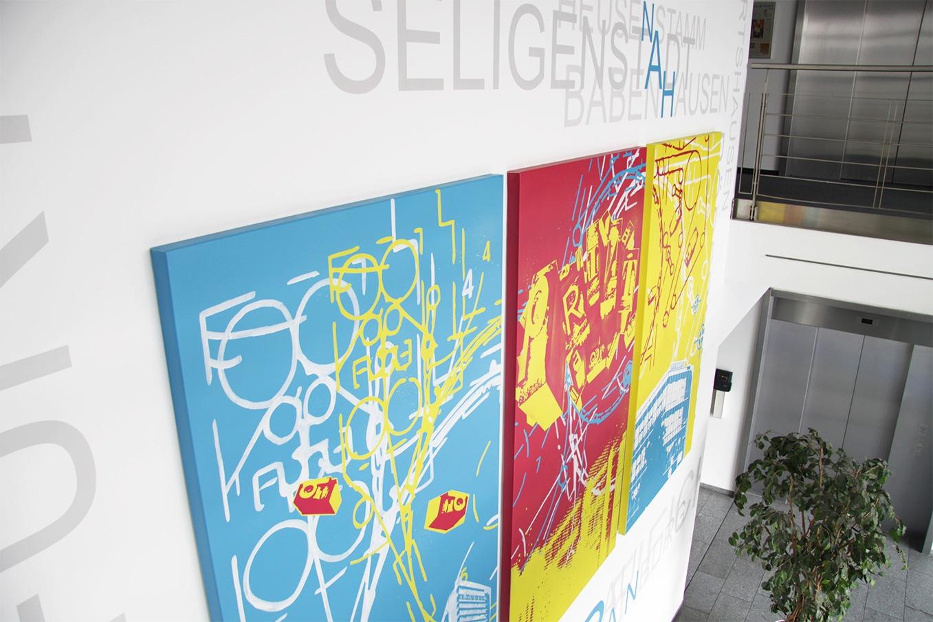 graffitiauftrag-graffitikuenstler-artmos4-offenbach-post-wandbild-bunt-grafisch-abstrakt