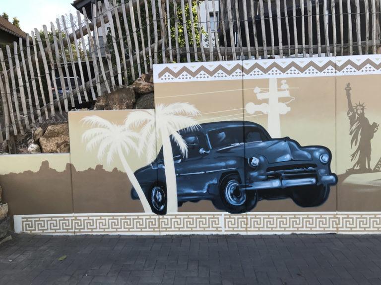 Graffitikuenstler, Graffitiauftrag, Artmos4, Landschaft, illustrativ, Grafisch