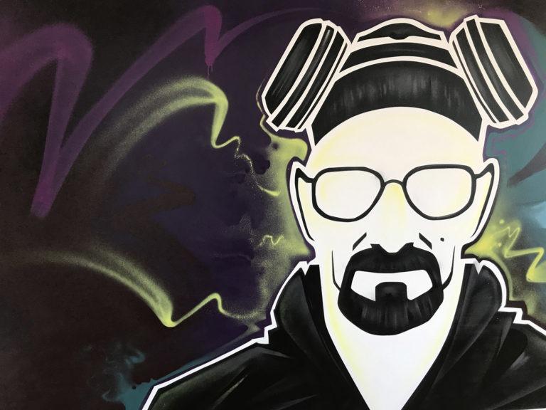 Graffitikuenstler, Graffitiauftrag, Artmos4, Heisenberg, BreakingBad, Mensch, illustrativ