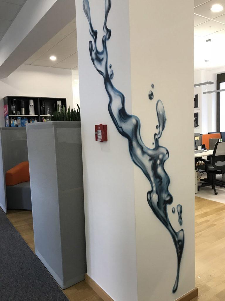Graffitikuenstler, Graffitiauftrag, Artmos4, Sodastream, Wasser, Fotorealistisch