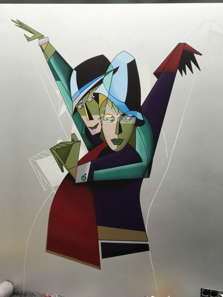 Graffitikuenstler, Graffitiauftrag, Artmos4, Person, Grafisch, Bunt, illustrativ