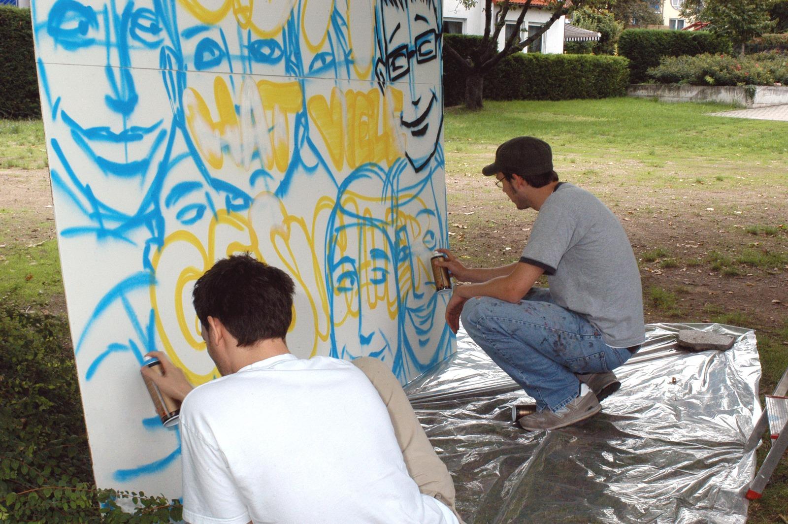 graffitiauftrag-graffitikuenstler-graffitikids-artmos4-kirchliche-einrichtung-event-graffiti-ingelheim