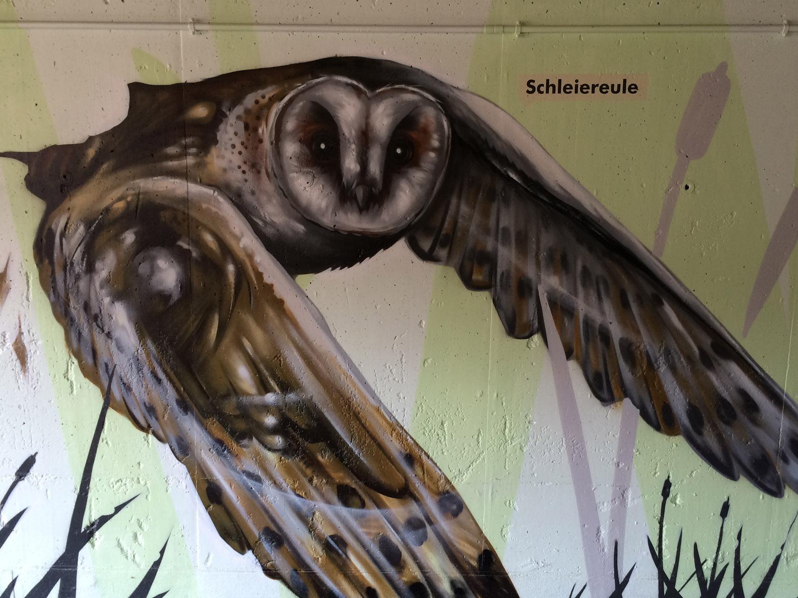 graffitikuenstler_graffitiauftrag_artmos4_gemeinde_moemlingen_tier_pflanzen_fotorealistisch_3