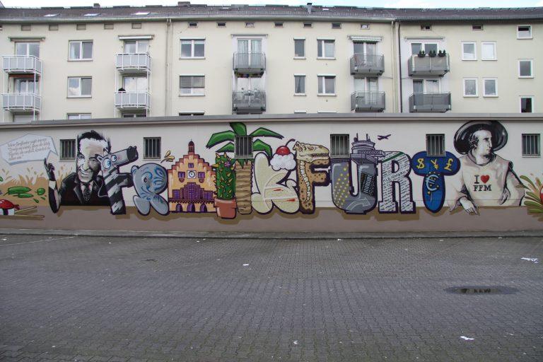 Graffitikuenstler, Graffitiauftrag, Artmos4, Kleinmarkthalle, Comic